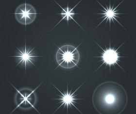 Shining star light illustration vector 04