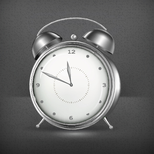 Simple alarm clock vector material vector life free download for Minimalist alarm clock