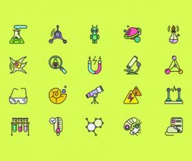 Social cute mini icons vector set 01