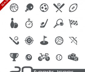 Sports icons creative vectors set 01