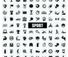 Sports icons creative vectors set 02