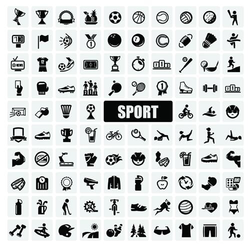 Sports icons creative vectors set 02