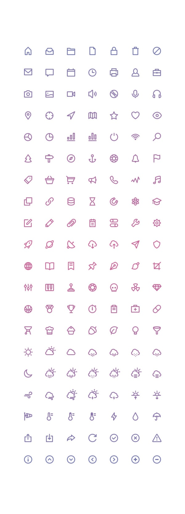 System mini line free icons
