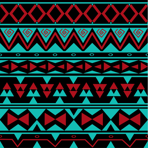 Tribal pattern seamless borders vector 02