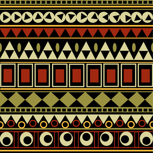 Tribal pattern seamless borders vector 03