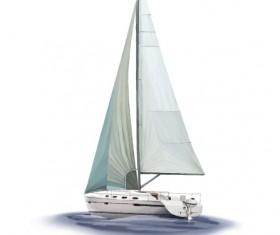 Vector sailing boat design material