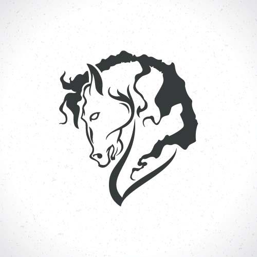 Vector Set Of Horse Logos Design 03