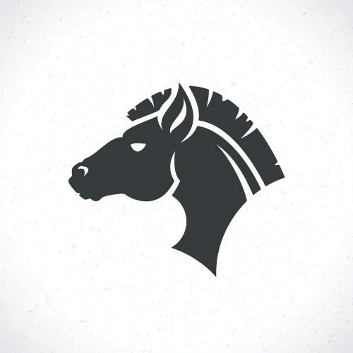 Vector set of horse lo...