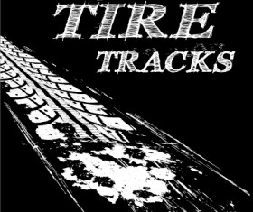 Vector tire tracks backgrounds design 02