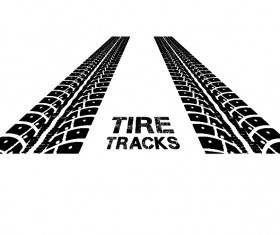 Vector tire tracks backgrounds design 04