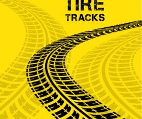 Vector tire tracks backgrounds design 05