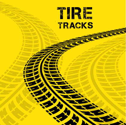 Vector Tire Tracks Backgrounds Design 05 Free Download