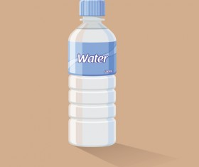 Vector water bottle template material 01