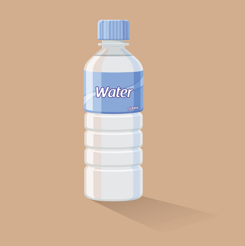 vector water bottle template material 01 vector other free download. Black Bedroom Furniture Sets. Home Design Ideas
