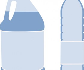 Vector water bottle template material 02