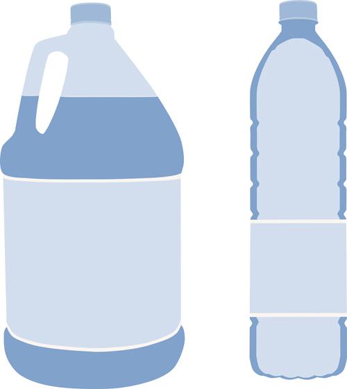 Water Bottle Vector: Vector Water Bottle Template Material 02 Free Download
