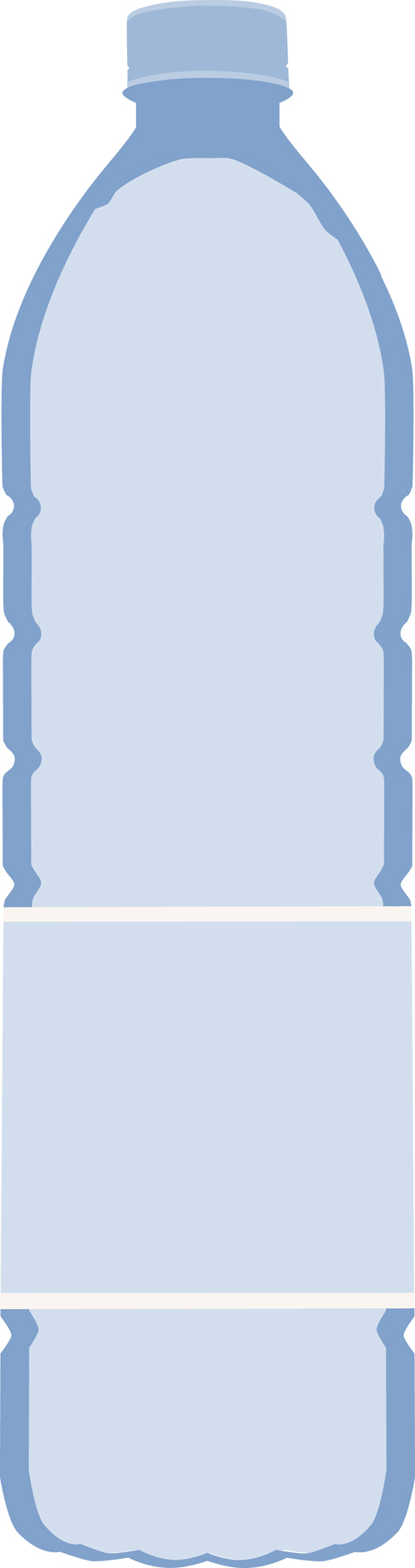 Vector Water Bottle Template Material 03 Free Download