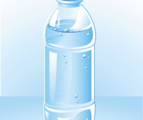 Vector water bottle template material 04