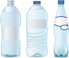 Vector water bottle template material 06
