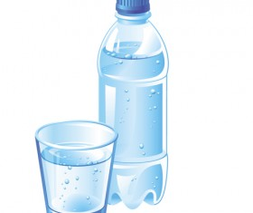 Vector water bottle template material 07