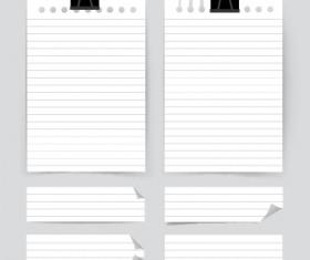White paper banners vectors set 01