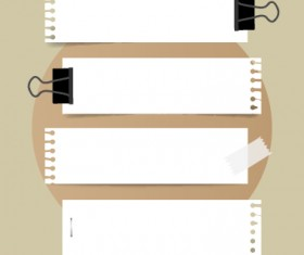 White paper banners vectors set 02