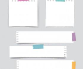 White paper banners vectors set 04