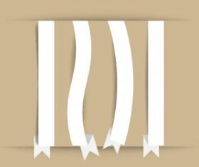 White paper ribbon vector material