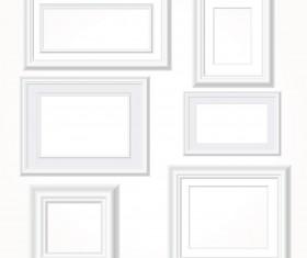 White photo frames vector set