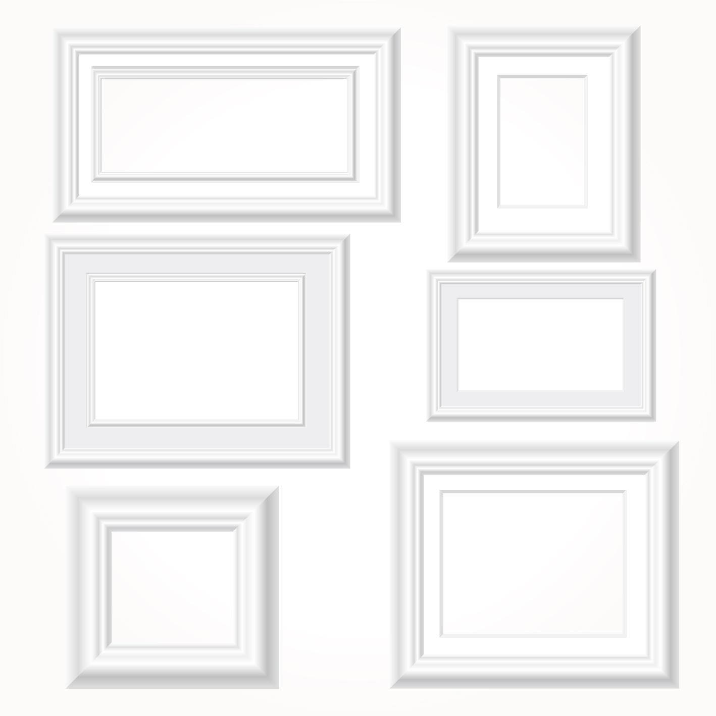 http://freedesignfile.com/upload/2015/08/White-photo-frames-vector ...