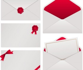 White with red envelope vector material