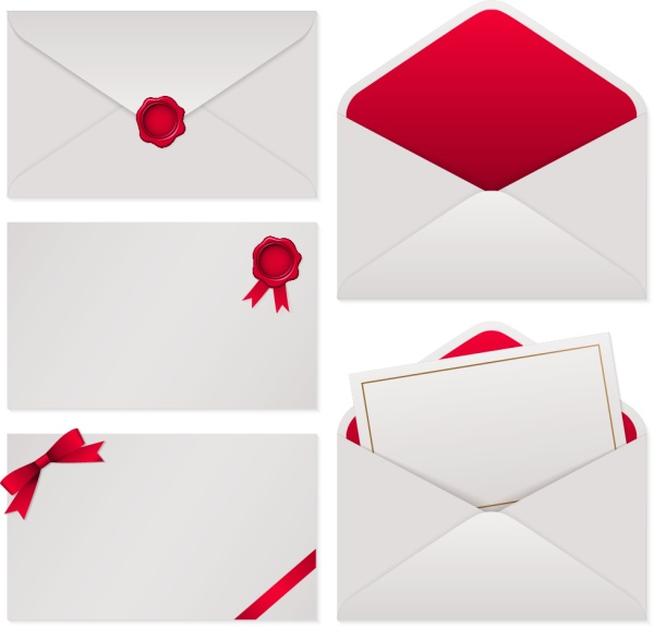 Envelope vector page 2 for free download white with red envelope vector material stopboris Images