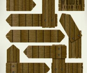 Wooden arrows creative vector material