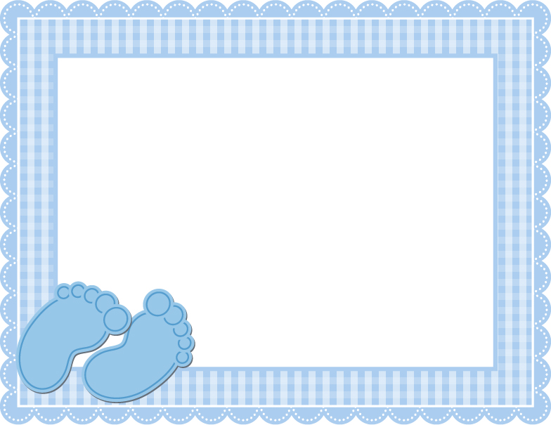 baby blue gingham frame vector free download