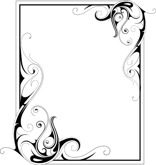 simple ornament frame vector material 02 free download