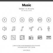 30 kind lines music icons