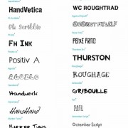 41 kind hand drawn font