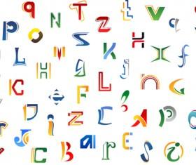 Abstract alphabet design vector
