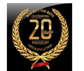 Anniversary celebration golden laurel wreath labels vector 07