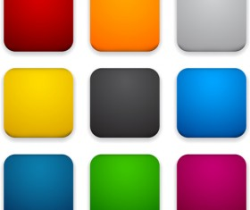 App button icons colored vector set 03