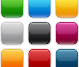 App button icons colored vector set 04