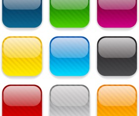 App button icons colored vector set 05
