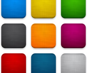 App button icons colored vector set 07