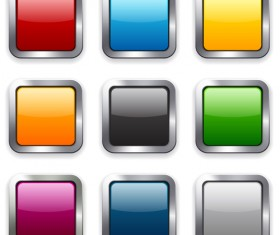 App button icons colored vector set 08