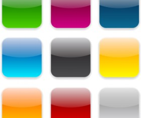 App button icons colored vector set 09