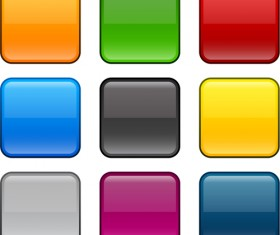 App button icons colored vector set 10