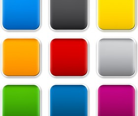App button icons colored vector set 11