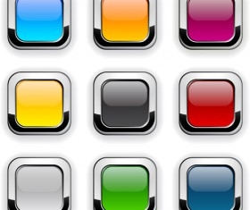 App button icons colored vector set 12