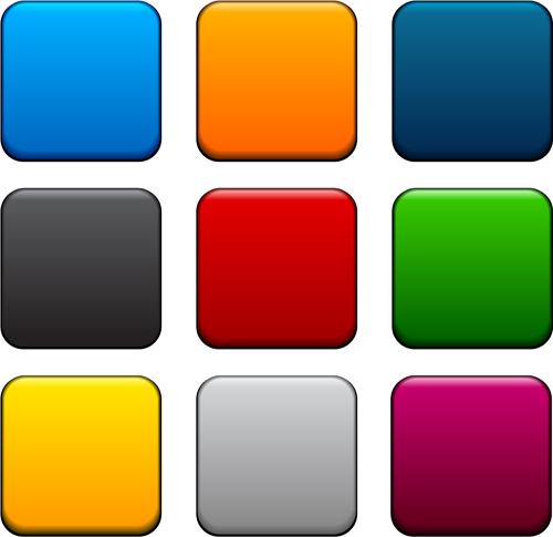 App button icons colored vector set 13