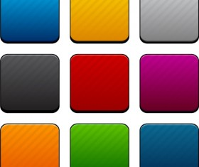 App button icons colored vector set 14